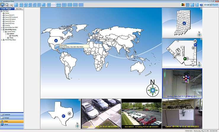 exacqVision Enterprise Multi-Level Maps